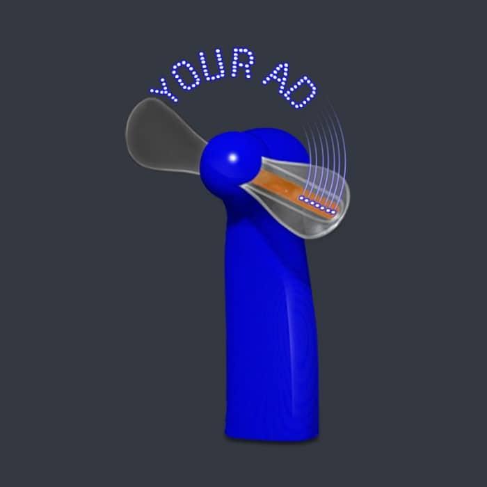 Led Digital Message Fan Blue